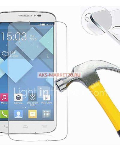 Противоударное защитное стекло для Alcatel One Touch Pop C7 7040