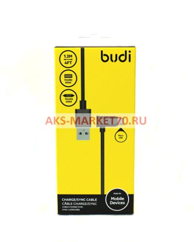 Кабель USB - micro USB budi M8J149M для HTC/Samsung (120 см) (black)