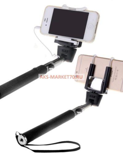 Монопод для селфи Activ Cable 201 с зеркалом (black)