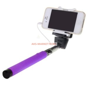 Монопод для селфи Activ Cable 201 с зеркалом (purple)
