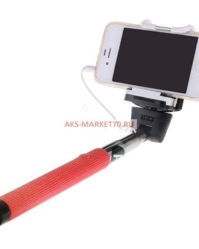 Монопод для селфи Activ Cable 201 с зеркалом (red)