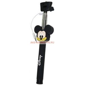 Монопод для селфи Monopod Cable Mickey Mouse (black)