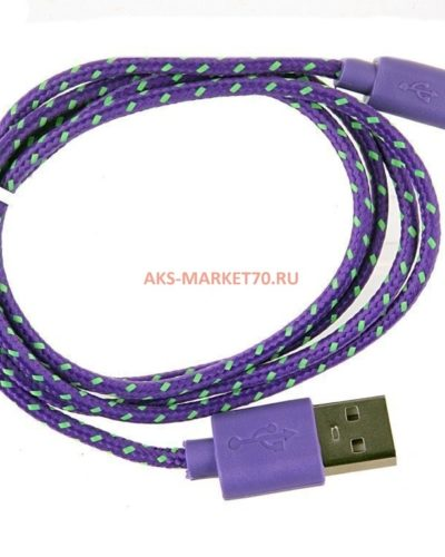 Кабель USB - micro USB Glossar CORD-1 (purple)