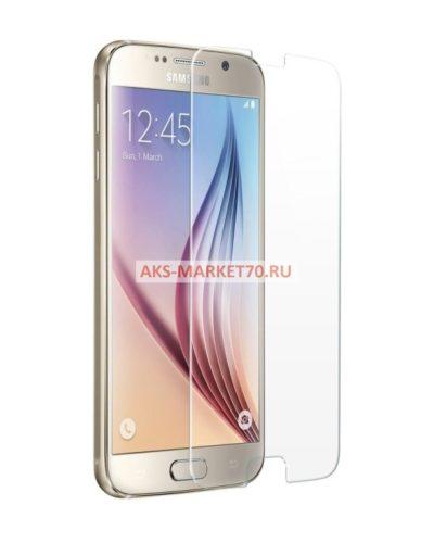 Защитное стекло прозрачное - для Samsung Galaxy S6 (тех.уп.) SM-G920