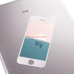 Защитное стекло зеркальное Glass хамелеон для Apple iPhone 5 (white/red)