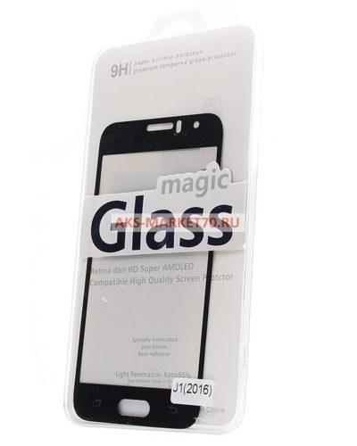 Защитное стекло цветное Glass Colorful для Samsung Galaxy J1 2016 (black) SM-J120