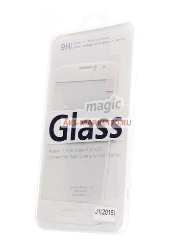 Защитное стекло цветное Glass Colorful для Samsung Galaxy J1 2016 (white) SM-J120