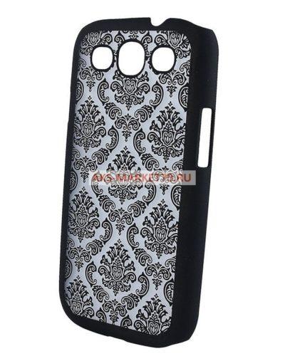 Чехол-накладка Decor-01 для Samsung Galaxy S3 (black) GT-i9300