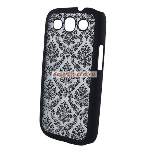 Чехол-накладка Decor-01 для Samsung Galaxy S3 (black) GT-i9300