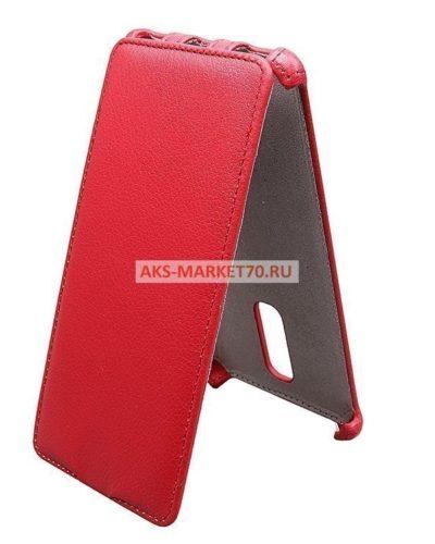 Чехол-книжка для Xiaomi Redmi Note 3 Pro (red) открытие вниз