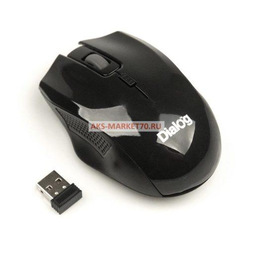 Мышь оптическая беспроводная Dialog Pointer MROP-04UB (black)