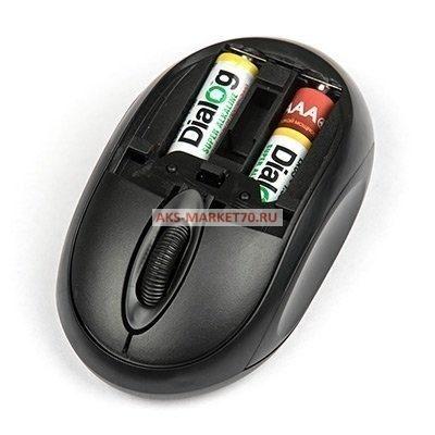 Мышь оптическая беспроводная Dialog Pointer MROP-06U (black)