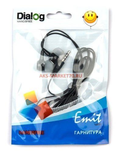 Проводные наушники с микрофоном Dialog ES-10 (black)