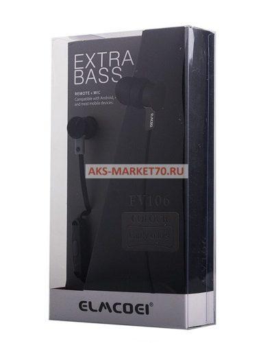 Проводные наушники Elmcoei EV106 (black) с микрофоном