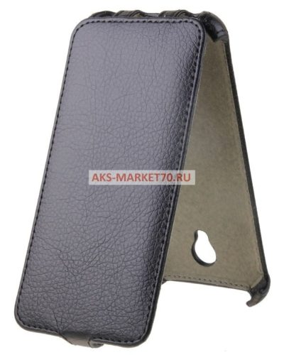 Чехол-книжка для Asus ZenFone 2 (5.5) (black) открытие вниз ZE551ML