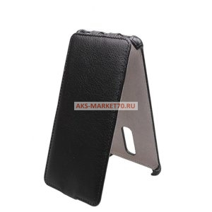 Чехол-книжка для Xiaomi Redmi Note 3 Pro (black) открытие вниз