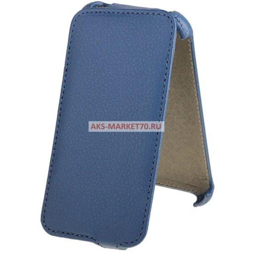 Чехол-книжка Activ Leather для Lenovo A369 (blue) открытие вниз