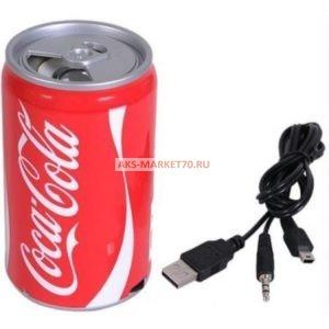 Портативная акустика - банка Coca-Cola