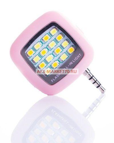 Вспышка для селфи - LED Flash&Fill-in light (pink)