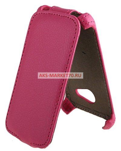 Чехол-книжка Activ Leather для HTC Desire 200 (pink) открытие вниз