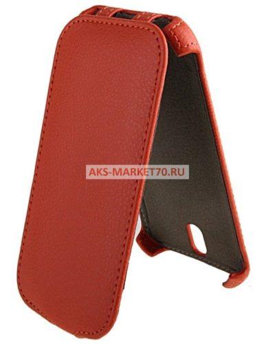Чехол-книжка Activ Leather для HTC One SV (orange) открытие вниз