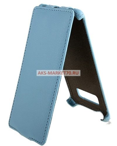 Чехол-книжка Activ Leather для HTC Desire 600 Dual SIM (sky blue) открытие вниз