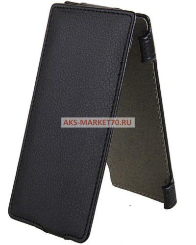 Чехол-книжка Activ Leather для Huawei Ascend P6 (black) открытие вниз