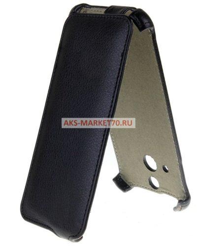 Чехол-книжка Activ Leather для HTC One Max (black) открытие вниз
