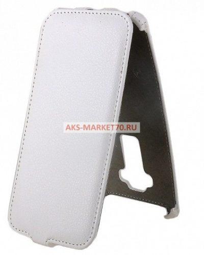 Чехол-книжка Activ Leather для LG G Flex 2 (white) открытие вниз