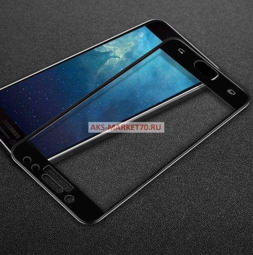 Защитное стекло цветное 3D для Samsung Galaxy J5 2017 (black)
