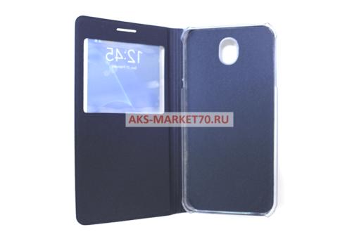 Чехол-книжка Aksberry Air Case с окном для Samsung SM-J730 Galaxy J7 2017 (синий)