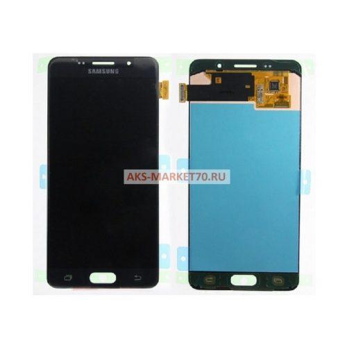 Дисплей Samsung A510F (A5 2016) в сборе с тачскрином (черный) - Оригинал