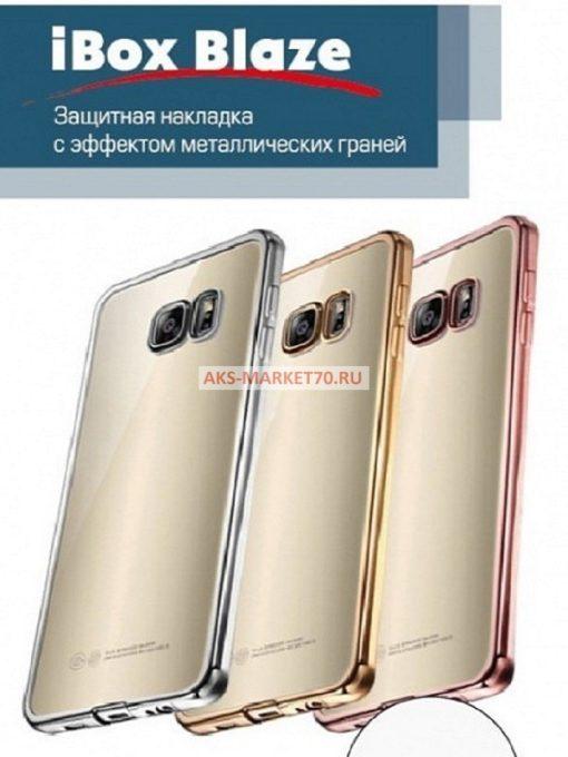 Чехол-накладка Red Line iBox Blaze для Huawei Honor 6C (серебристая рамка)