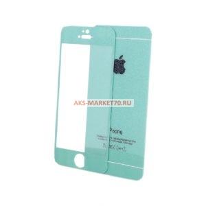 Защитное стекло цветное градиентное для iPhone 6/6S перед/зад F-GLASS