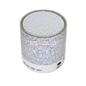 Колонки Beatbox светящиеся с рисунком Bluetooth/FM/Micro SD/FM радио White