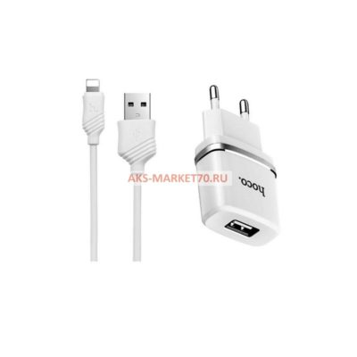 СЗУ HOCO 2USB C12 series 2.4A White