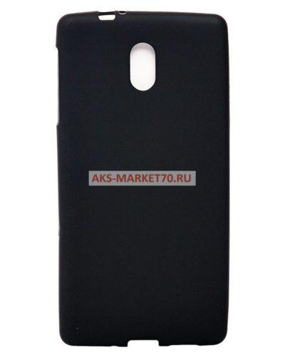 Чехол-накладка для Nokia 3 силикон (черный)