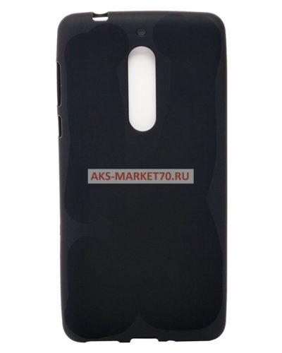 Чехол-бампер для Nokia 6 (black), силикон