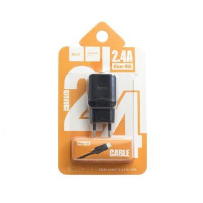 СЗУ HOCO 1USB C22A series 2.4A Black
