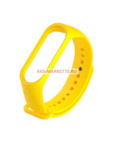 Сменный браслет Xiaomi Mi Band 3 однотонный (Желтый)