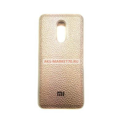 Чехол-бампер под кожу для Xiaomi Redmi 5 Plus(золотой)