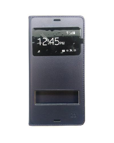 Чехол-книжка для Sony Z3 (синий)