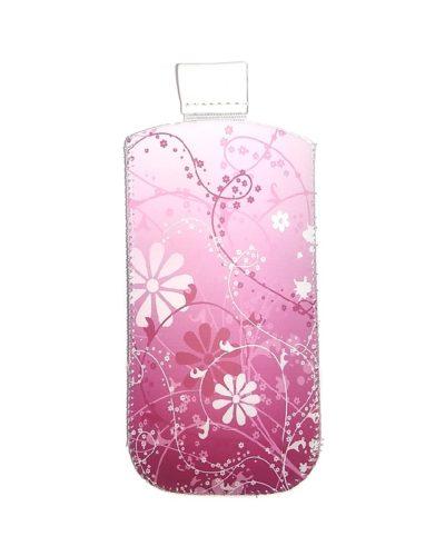 Сумочка-колба Glossar  для Nokia 6300/6303 (розовый с узором)
