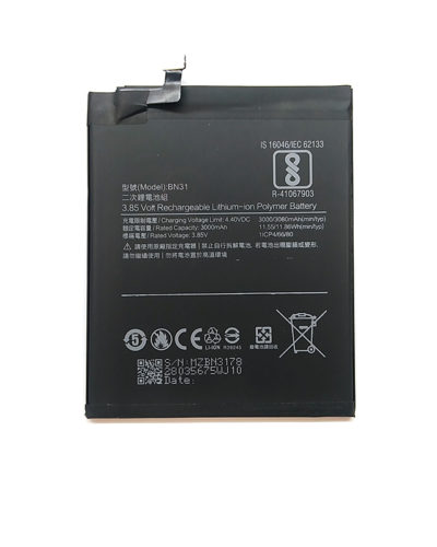 Xiaomi BN31 (Mi5X/Mi A1/Redmi Note 5A Prime/Note 5A)