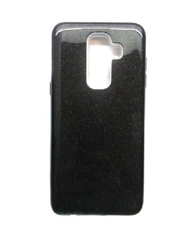 Чехол-бампер с блестками для Samsung Galaxy J8 (2018) (Черный)