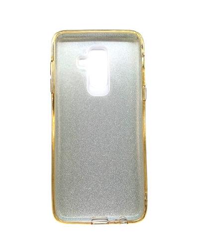 Чехол-бампер с блестками для Samsung Galaxy J8 (2018) (Золото)