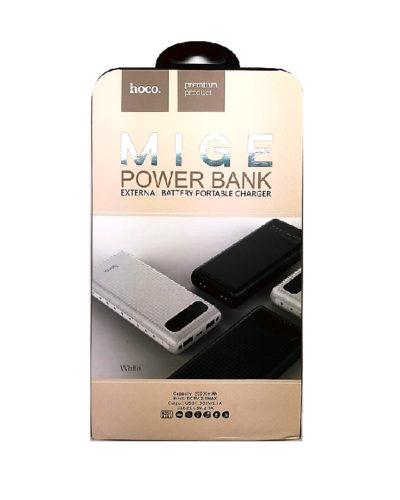 Power Bank HOCO 20000 mAh c дисплеем (белый)
