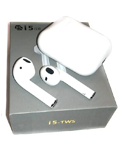 Беспроводные Bluetooth - наушники TWS i5 (белый)