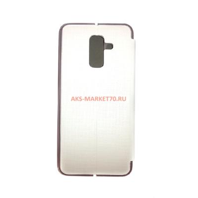 Чехол книжка Brera Like Me Samsung A605 Galaxy A6 Plus 2018 (белая)