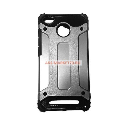 Силиконовый противоударный чехол для Xiaomi Redmi 3S (серебро)